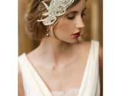 Ready to ship in Ivory Deco Bridal Cap 737 - EricaElizabethDesign