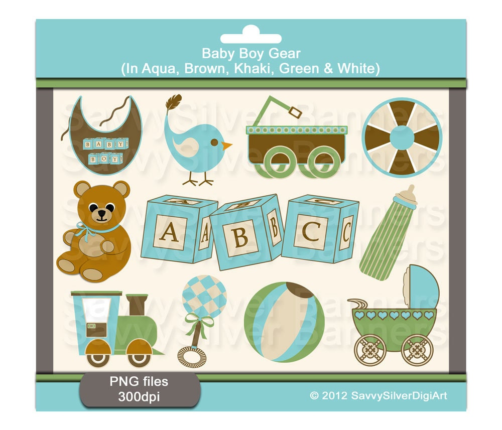 Baby Boy Toys Clip Art : Digital cute baby boy girl clipart by savvysilverdigiart