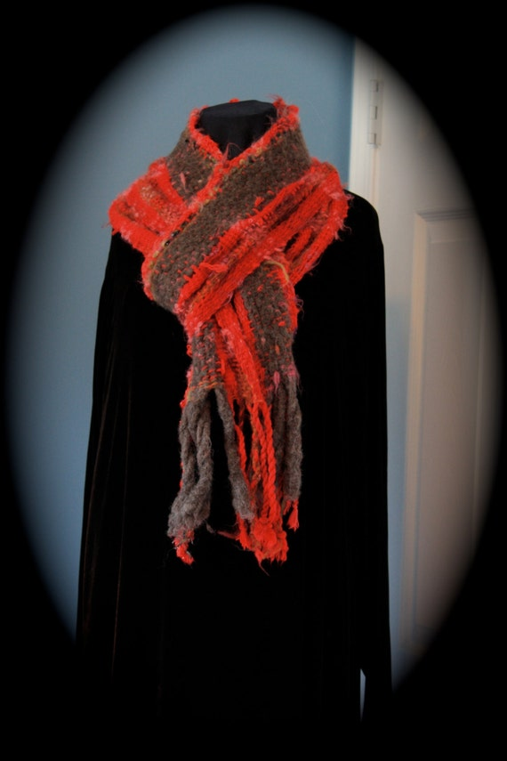 Red Everyday Scarf in red brown