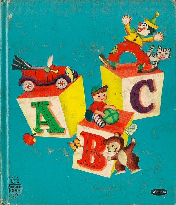 VINTAGE KIDS ABC a Whitman Tell-a-Tale Book