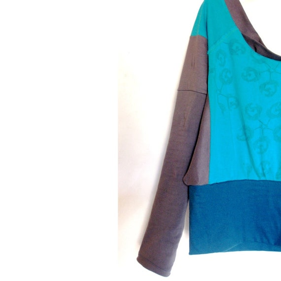 "Transformations longsleeve top ""blue meadow"", size 38-40"