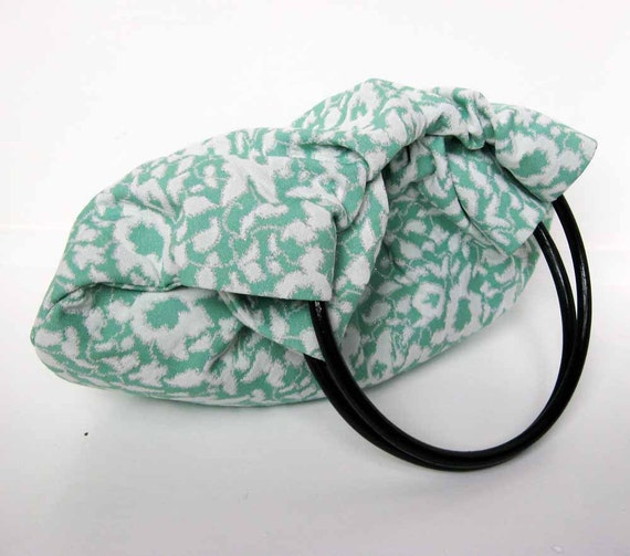 Handmade Hobo Shoulder Purse - Fresh Mint Handbag - Ready to Ship