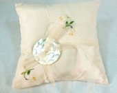 Square Handkerchief Bridal Pillow