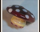 Red Toadstool Glass Bead Bead Pendant