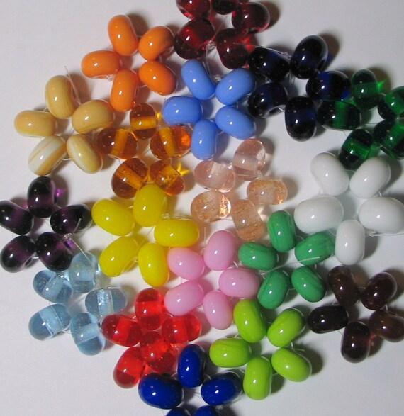 Lampwork Spacer Glass Bead Set