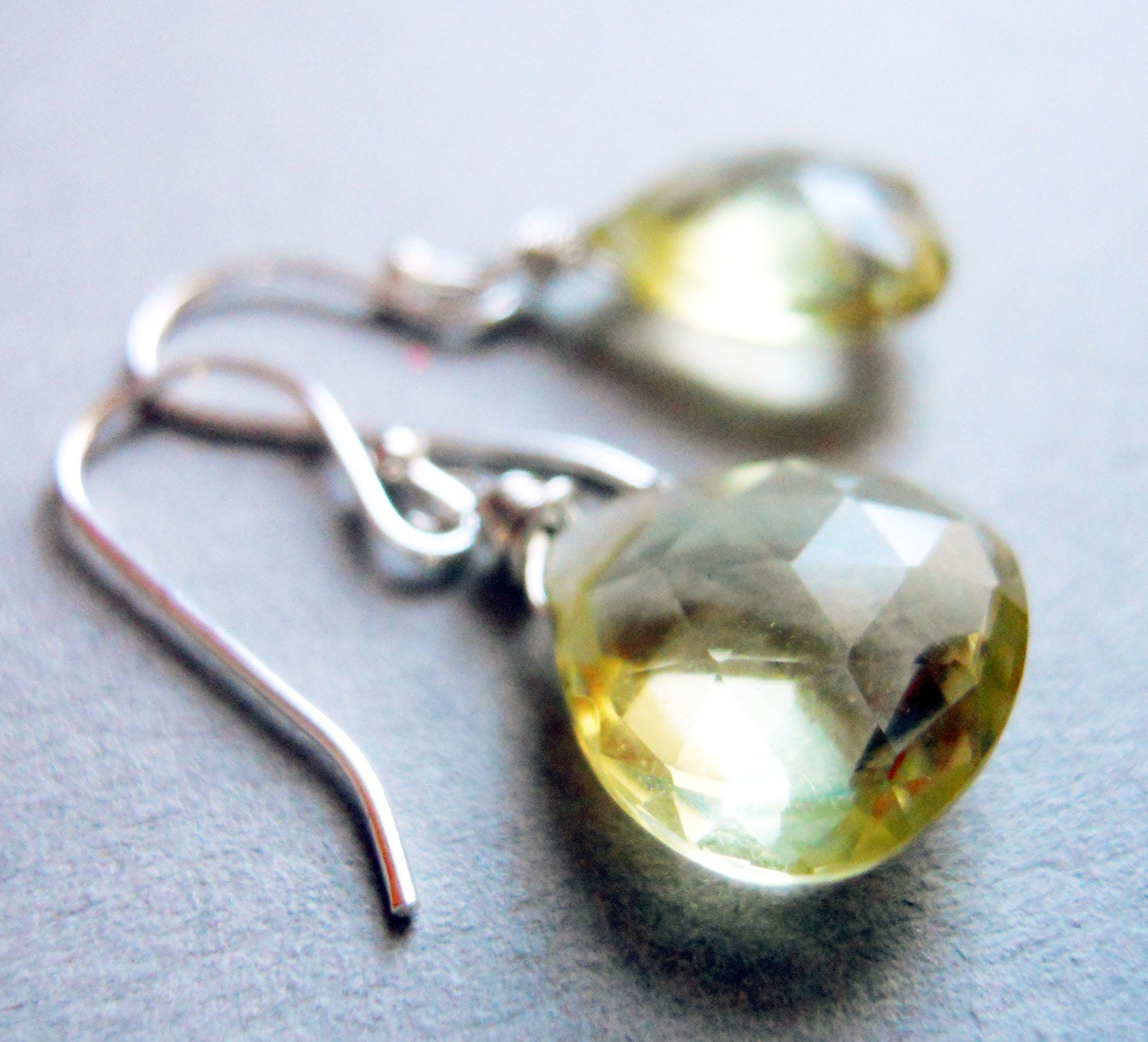 Lemon drop lemon quartz earrings - $38.00 USD