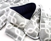 Pregnancy New Mom Survival Kit, Baby Shower Gift Set to pamper Mother, Hot Cold Pads, Heat for Back, Feet Neck - navy gray