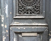 Paris Photography - Blue grey Door in Paris France - 8x10 Paris Fine Art Photograph- affordable home decor - rebeccaplotnick