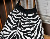 Love It Sale Zebra Print Hobo Bag