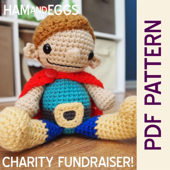 Super Tim Amigurumi Pdf Pattern CHARITY Fundraiser