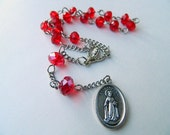 Red Prayer Chaplet Rosary of St. Dymphna