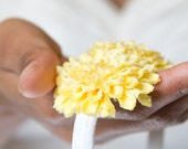 Lemonade Pom Pom Flower Headband