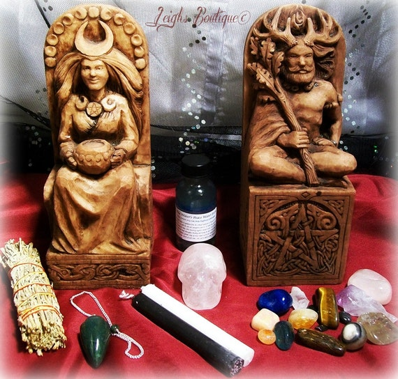 The Lord and Lady Complete Altar Accessory and Statue Set
