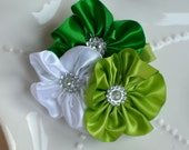 Saint Patricks Irish Green Flower Cluster Hair Clip