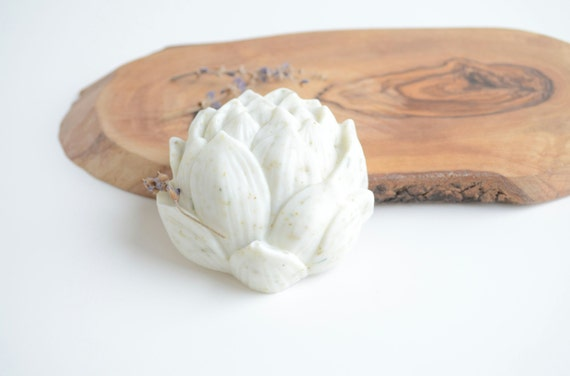 Spa-Lavender Lotus Flower Goat's Milk and Shea Butter Handmade Soap- Natural