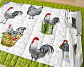 Quilted Placemats Rooster
