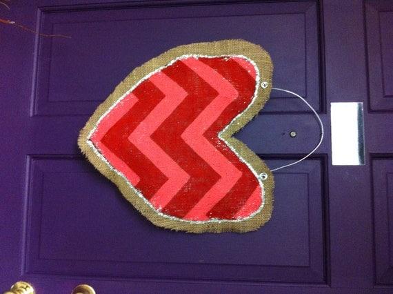 Heart Burlap Door Hanger