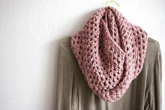 Knitcrochet Alchemy Bulky Crochet Infinity Scarf Cowl Oversized By