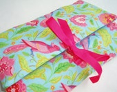 Travel Make Up Organizer Perfect for Holidays in a New Tropical Brights Fabric