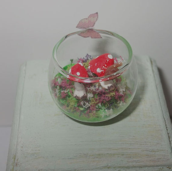 Dollhouse terrarium 1/12 scale