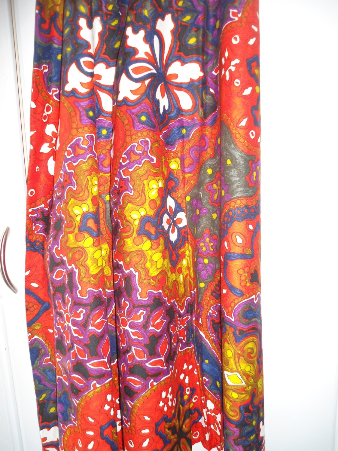 Psychedelic Pants 60s era Hippy Bell Bottom Pants Reds ...