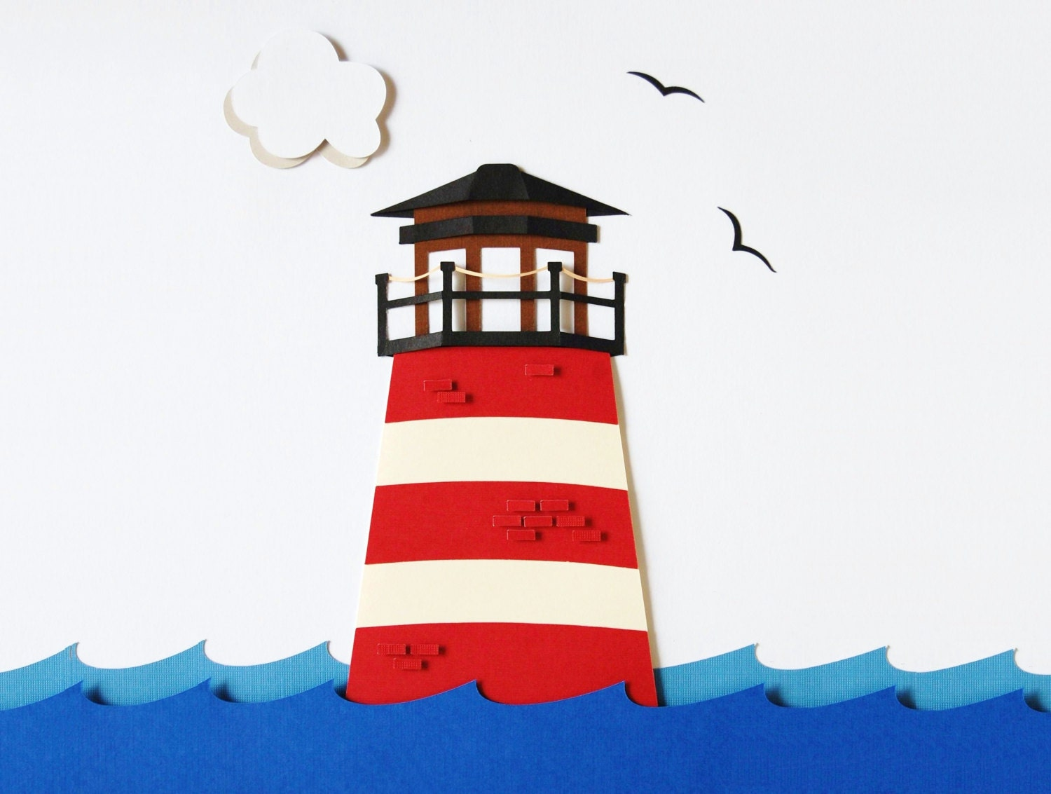 Lighthouse Decor Kids Wall Decor Marine Theme Sea Life by WallDuds
