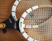 Vintage Tennis Rackets - Made in Holland Pair of Regent Cannon Ball Wooden Rackets Don Bridge - labiblioteca