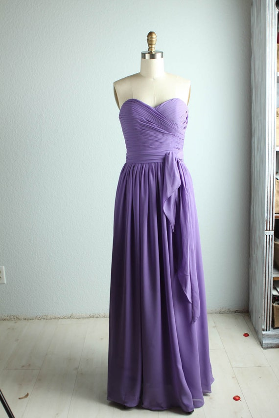 Bridesmaid chiffon Dress purple dress/floor length/purple Prom/ party dress (B030)