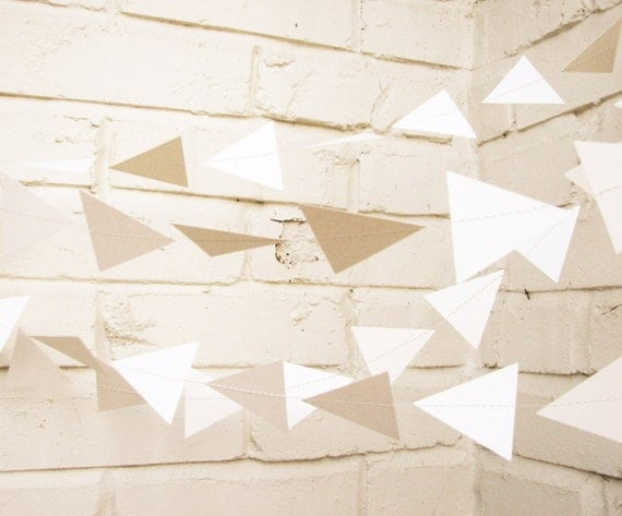The Geo Garland, Cream Wedding Garland, Cream, Wedding Decor, Wedding Garland
