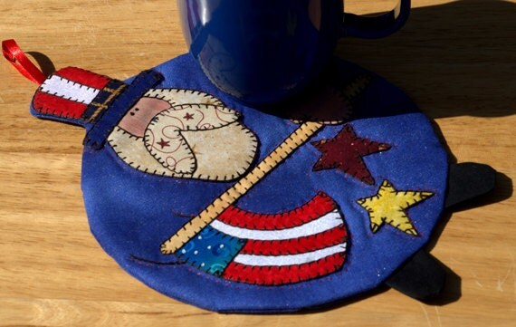 Uncle Sam Mug Rug Sparkles