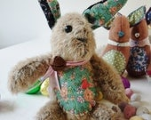 Easter Bunny - Vintage Alpaca wool upcyled heirloom bunny - wiggiewoo