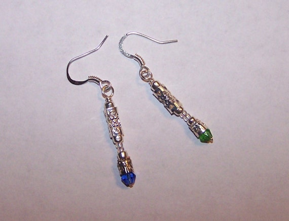 Doctor Who sonic screwdriver inspired earrings