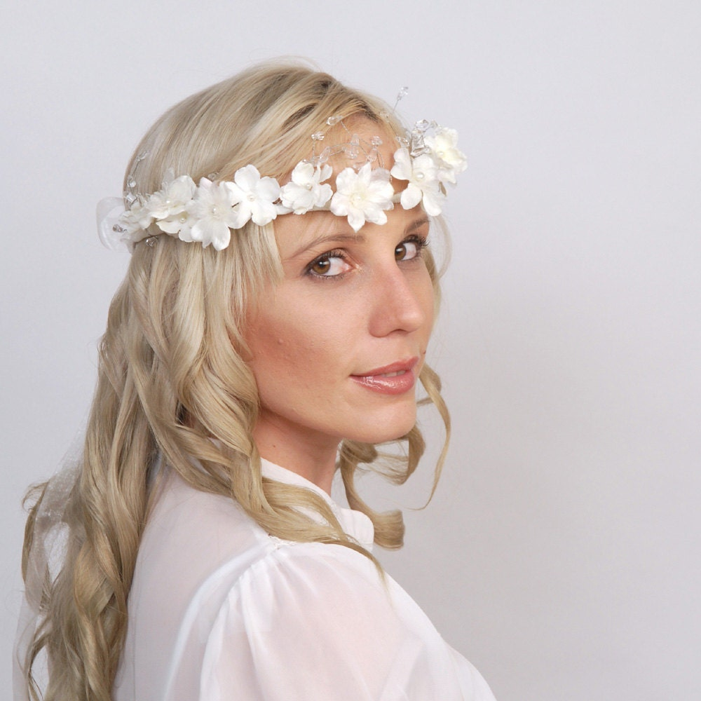 Flower Wedding Headpieces: Custom Listing For Candace By VelvetTeacup On Etsy