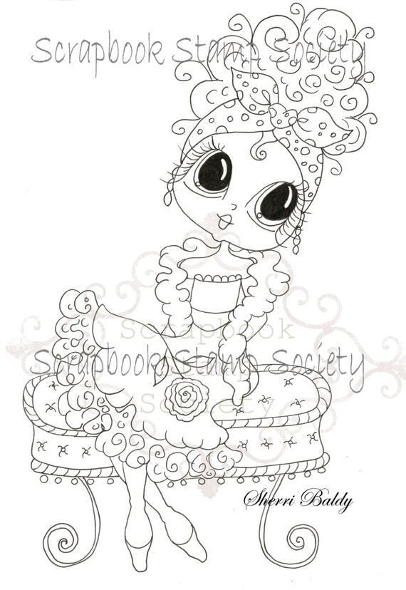 Digital Digi Stamps Big Eye Big Head Dolls Digi Lolita By Sherri Baldy