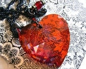 Swarovski Red Crystal Heart Necklace - joannes3