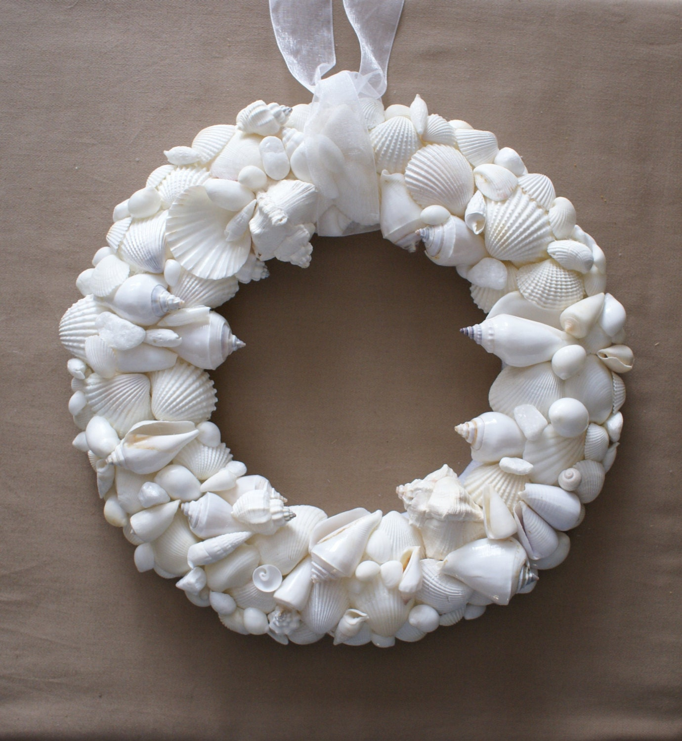 Wedding decoration 13 decor seashell wreath beach by JustShellin