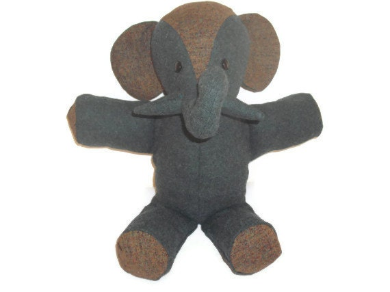 Stuffed Elephant Toy--Roger