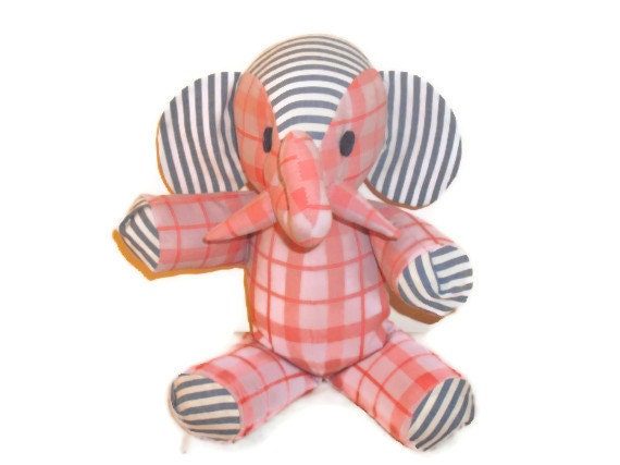 Stuffed Elephant Toy--Loretta