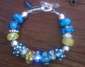 Trinkette and Charm Bracelet Turquois and Light Blue Fashion Jewelry