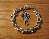 Boys Baptism Bracelet/Boys Christening Bracelet/Godmother Gift - roziespearls