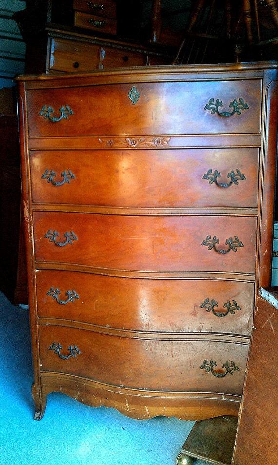 Vintage bassett highboy dresser paint to order painted furniture for Vintage bassett furniture bedroom sets