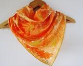 Vera scarf 1970s tangerine with ladybug