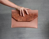 Wood & leather clutch / ipad cover - thehouseof4