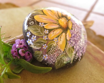 Painted Rock Garden Rock California Beach by DesignsByTanaBanana