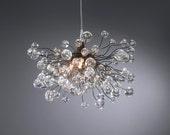 Lighting hanging chandeliers clear bubbles - Flowersinlight