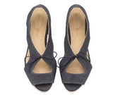 NEW ARRIVALS, Lola Navy, Sandals - TamarShalem