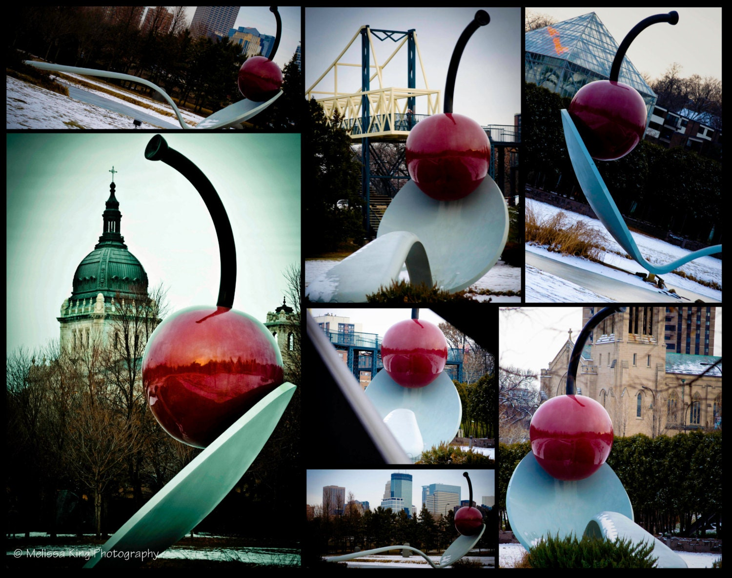 Minneapolis Sculpture Garden Spoon & Cherry by MelissaKingPhoto