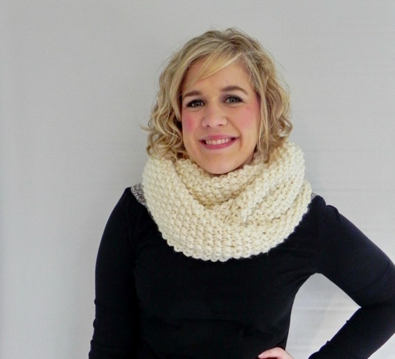 Knit Infinity Scarf 21 Colors Available - Knit Cowl
