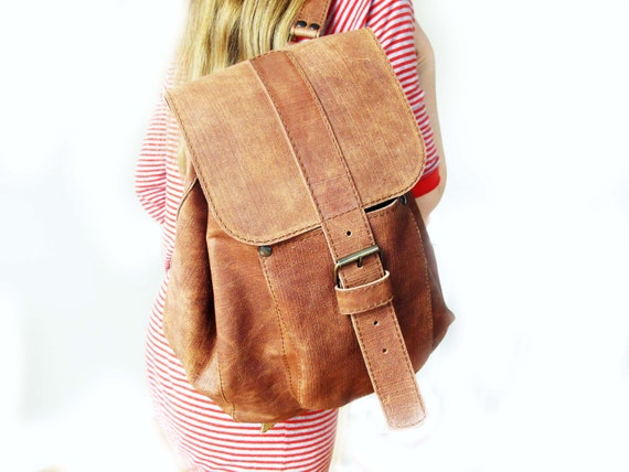 Backpack,handmade ,100% Natural Cow Leather