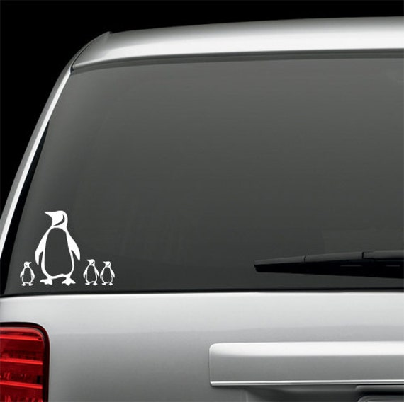 Penguin Decal  car, window, ipad, laptop, mirror sticker